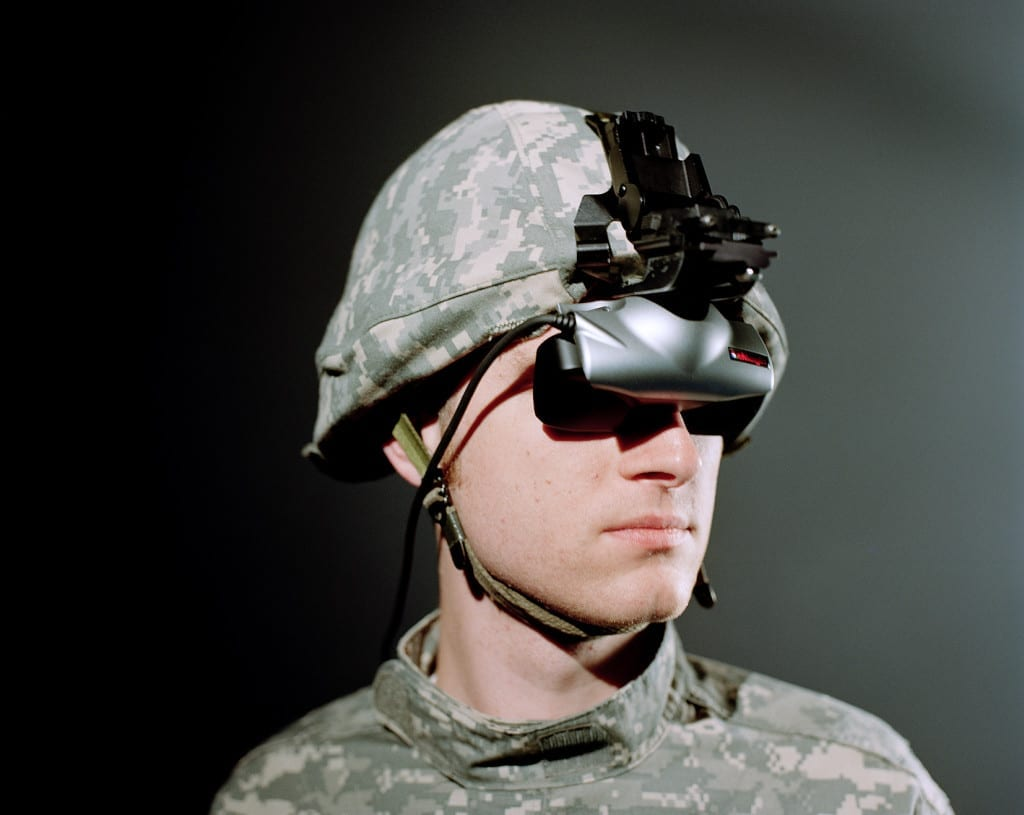 Lisa Barnard's project Virtual Iraq looks at the role the Institute of Creative Technologies plays in advancing technology to enable the US Army to treat, train and recruit soldiers. Head Gear used by a soldier when undergoing treatment for Post Traumatic Stress Disorder. Images © Lisa Barnard.