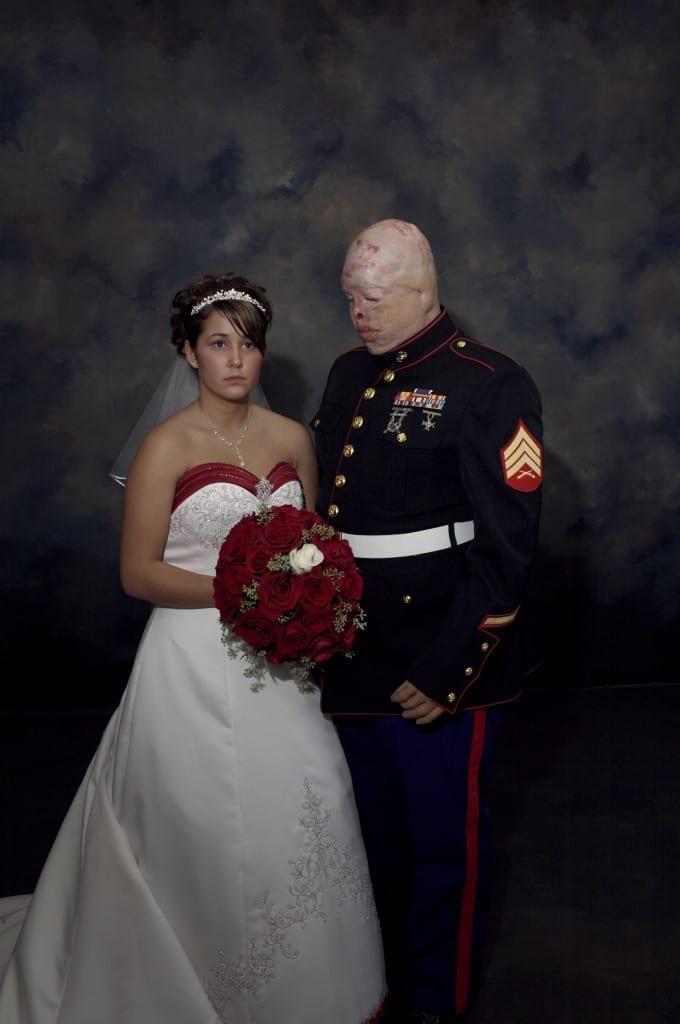 Sergeant Ty Ziegel and Renee Kline, from the series Marine Wedding, 2006. Image © Nina Berman/NOOR.