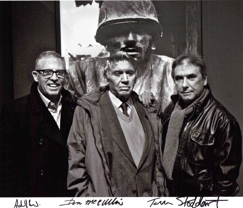 Aidan Sullivan [left], pictured with photographers Don McCullin and Tom Stoddart, started his career as a photographer before joining The Sunday Times as a picture editor. Now he divides his time between Reportage by Getty Images and the A Day Without News? campaign. © Tom Stoddart