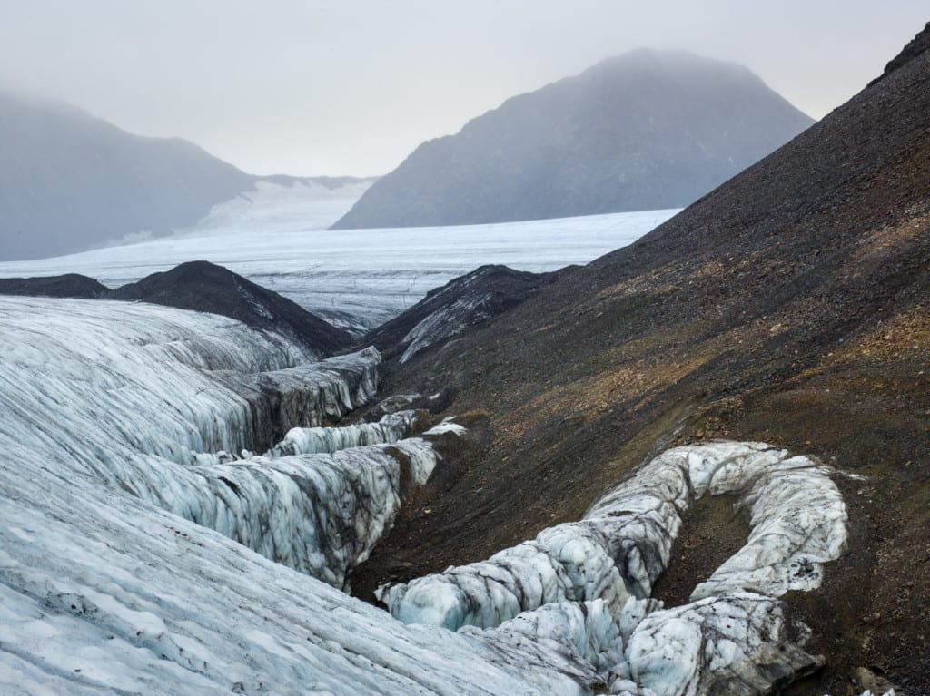 Project Pressure's photographic records of glaciers will help to monitor future erosion. Image © Corey Arnold