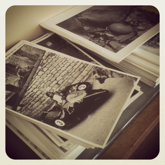 BELGIUM, Brussels. 12/07/2012: Baryte vintage prints to sort and sign © John Vink / Magnum Photos