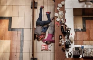 Massacre at a Kenyan Mall. Second Prize Spot News (stories): A woman and children hiding in the Westgate mall. They escaped unharmed after gunmen had opened fire at the upscale Nairobi mall on 21 September 2013. At least 39 people were killed in one of the worst terrorist attacks in Kenya's history © Tyler Hicks, USA, The New York Times