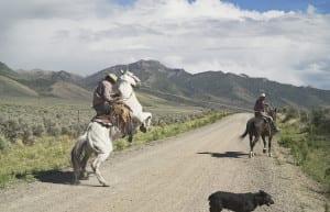 Casey and Rowdy Horse Training, 71 Ranch, Deeth, Nevada, 2012 © Lucas Foglia