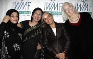 Anja Niedringhaus with fellow 2005 Awardees Shahla Sherkat (Iran), Sumi Khan (Bangladesh), Molly Ivins (United States) – Los Angeles