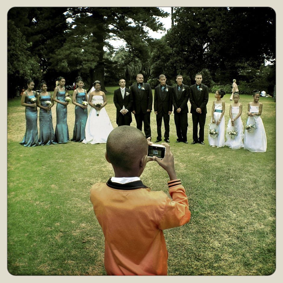 Wedding - Aderne Gardens - Claremont, Cape Town © Dale Yudelman, from the series Life under Democracy