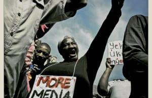 Prescella Moloke - Secrecy Bill March on Parliament - Cape Town © Dale Yudelman, from the series Life under Democracy