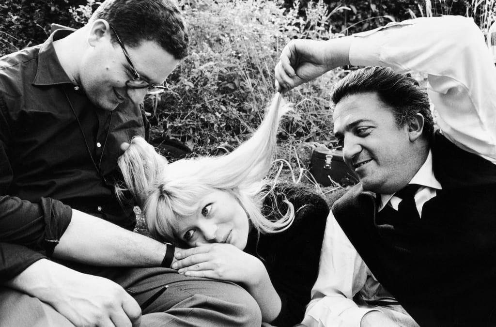 Set of La Dolce Vita. Assistant cameraman Ennio Guarnieri, Nico Otzak and Federico Fellini, 1960 © Arturo Zavattini, courtesy MGMC & Solares Fondazione delle Arti