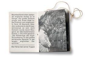 Spread from A Winter Relief Fund booklet, from the series Der Führer Macht Geschichte (The Führer Makes History), published by Gild Dokumente Heinrich Hoffmann, Munich, 1937-41