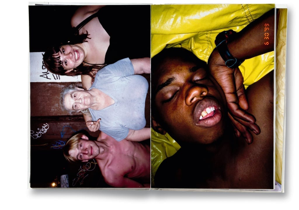 Spread from The kids are alright, Ryan McGinley, self-published, 2000