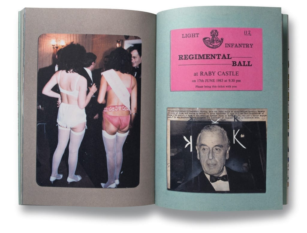 A spread from Donovan Wylie's Scrapbook, published by Steidl, Göttingen, 2009