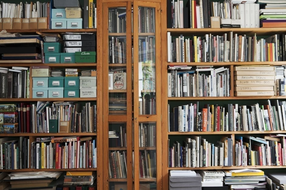 GB. England. Bristol. Martin Parr's book collection. 2009.