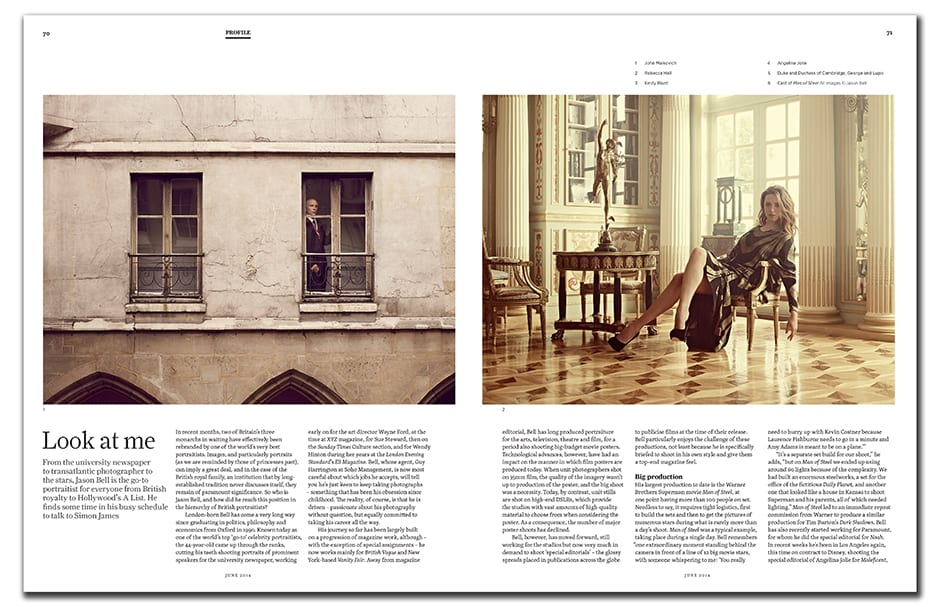 Jason Bell takes some time in his busy schedule to talk about his journey from university newspaper photographer to go-to portraitist of the stars