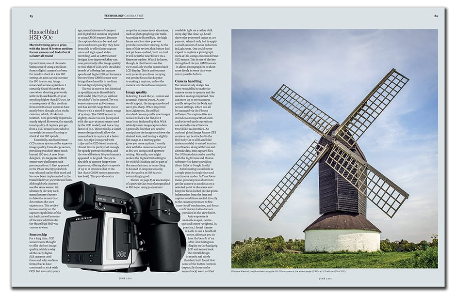 In Technology, Martin Evening checks out the Hasselblad H5D-50c