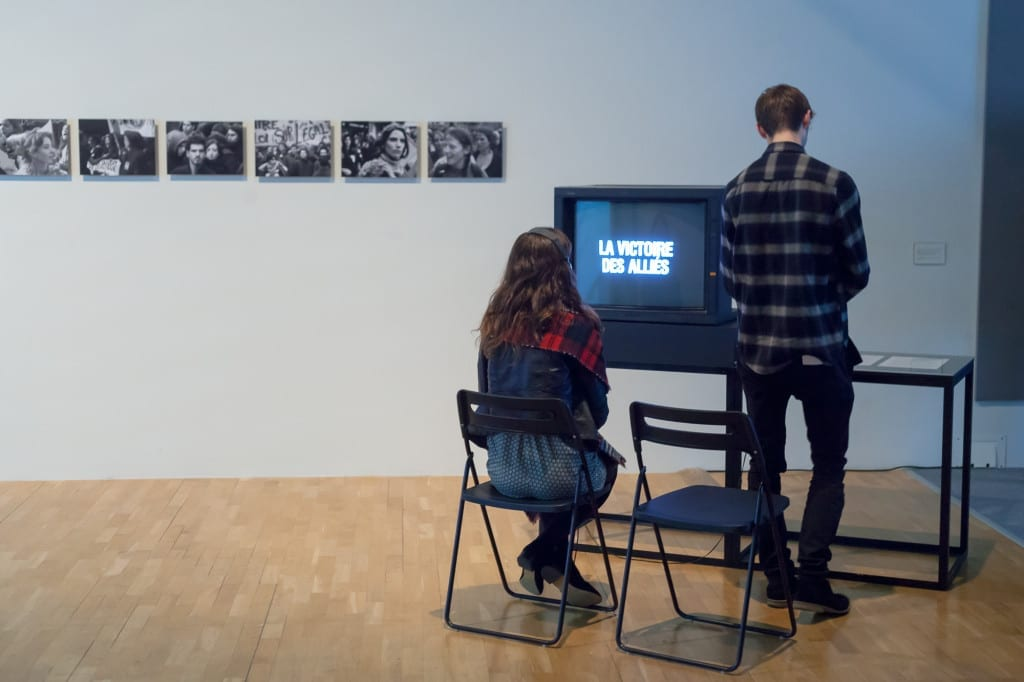 Installation view, Chris Marker: A Grin Without a Cat at Whitechapel Gallery. Image © Patrick Lears