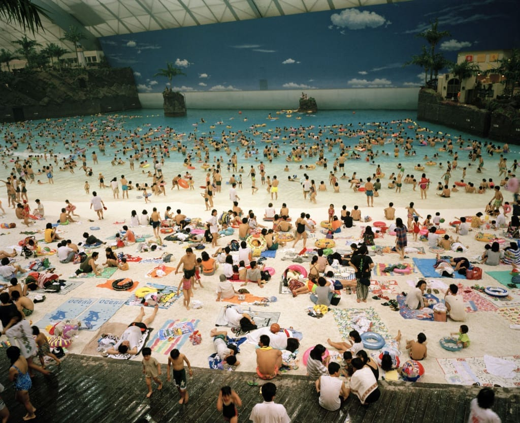 The artificial beach inside the Ocean Dome, Miyazaki, Japan, 1996 © Martin Parr/Magnum Photos