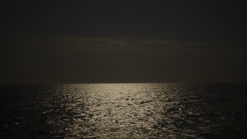 Seascape, Lampedusa. This summer, the boat crossings will begin again. Image © Zed Nelson/Institute