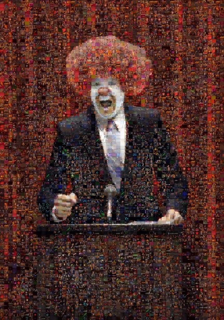 Clown, 2006, from the series Googlegrama (c) Joan Fontcuberta