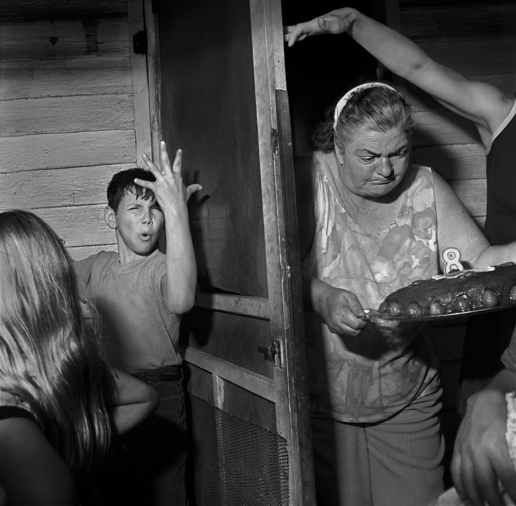 Pat Sabatine's Eighth Birthday Party, Martins Creek, PA, April 1977, from Larry Fink on Composition and Improvisation. Image © Larry Fink, courtesy Aperture, 2014