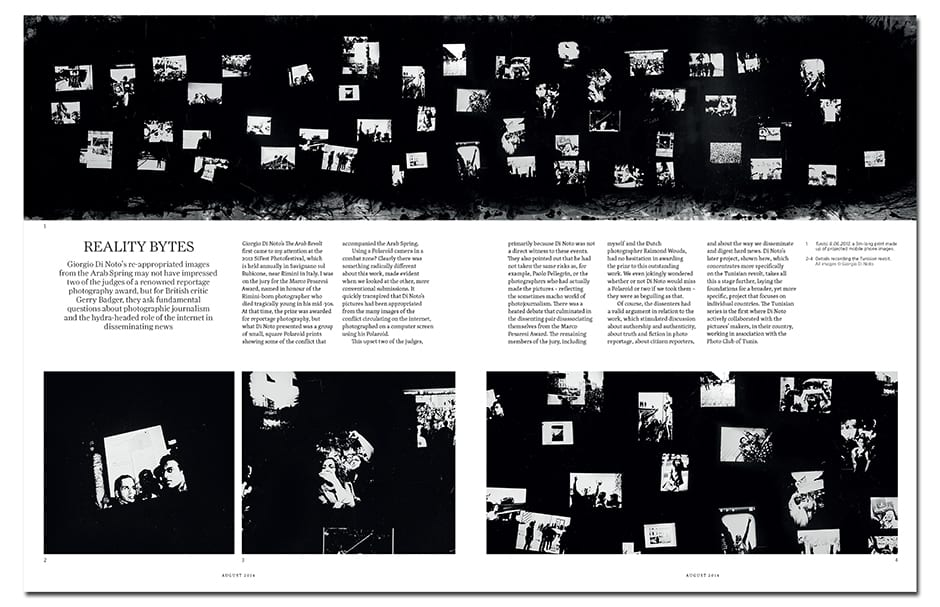 Giorgio Di Noto's re-appropriated images from the Arab Spring ask important questions about the role of the internet in disseminating news