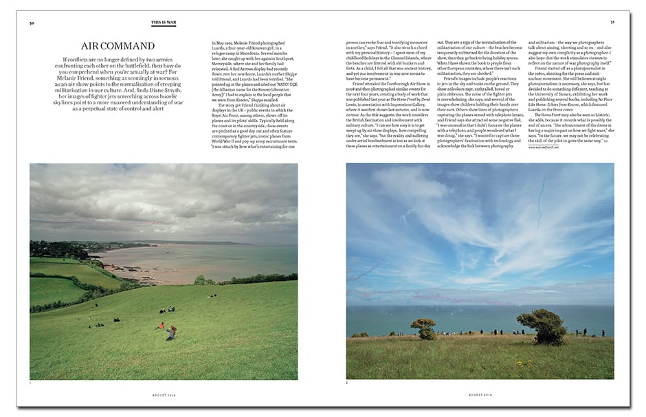 Melanie Friend photographs UK air shows, which take on a sinister air in The Home Front, published by Dewi Lewis