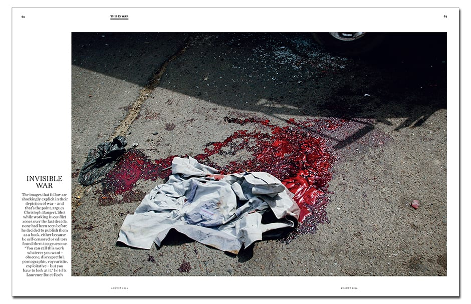 Previously unpublished: Christoph Bangert's explicit images ask us to reconsider the way we view war and bloodshed