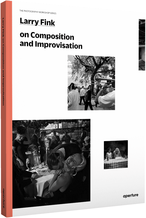 Cover of Larry Fink on Composition and Improvisation. Image © Aperture, 2014