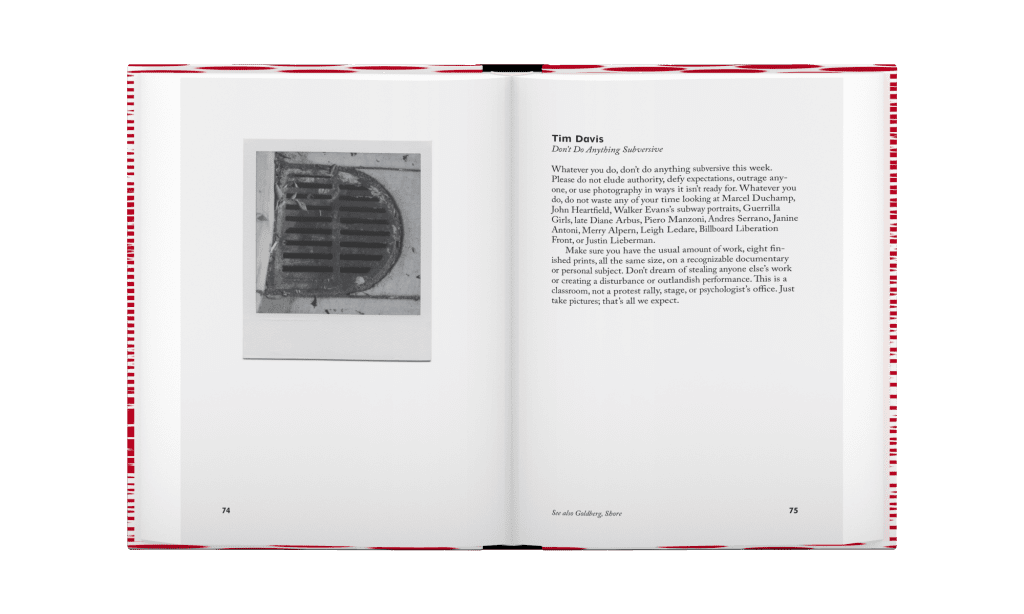 A spread from The Photographer's Playbook: 307 Assignments and Ideas, published by Aperture