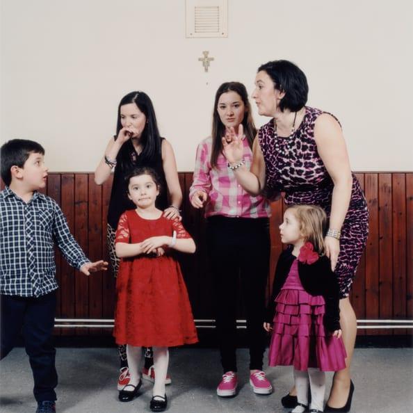 Family portrait 1, St Francesca Cabrini Italian Church, Bedford, UK, 2013. Image © Lucy Levene
