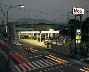 Petrol station and Mount Fuji, Fuji City, Japan. Image © Chris Steele-Perkins