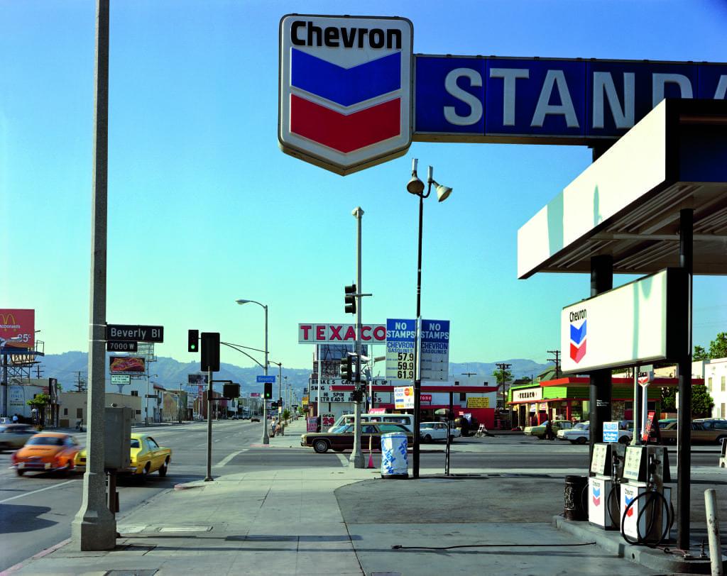 Beverly Boulevard and La Brea Avenue, Los Angeles, California, 21 June, 1975 © Stephen Shore