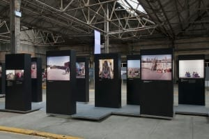 Installation view of A Return To Elsewhere at Brighton Photo Biennial 2014. © Nigel Green