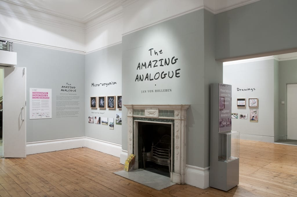 Installation view of Jan von Holleben's The Amazing Analogue: How we Play Photography, at Brighton Photo Biennial 2014. © Nigel Green