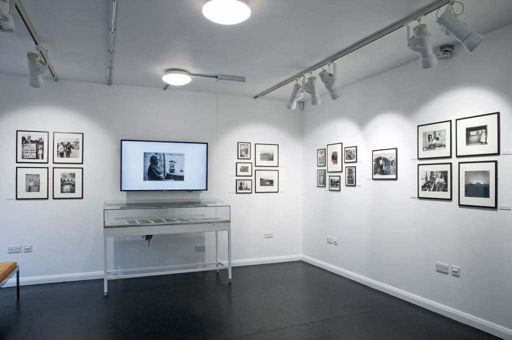 Installation view of Real Britain 1974: Co-Optic and Documentary Photography, at Brighton Photo Biennial 2014. © Nigel Green