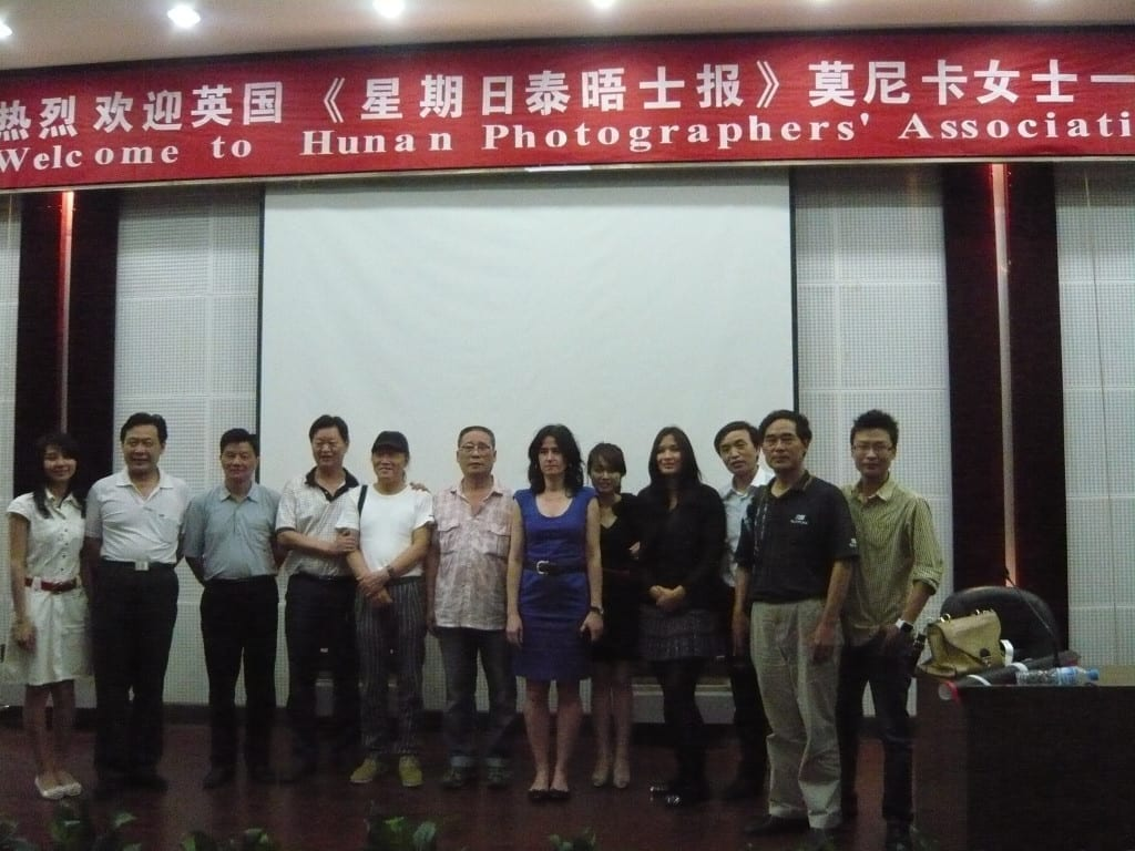 Picture editor and curator Monica Allende at a photo festival in China