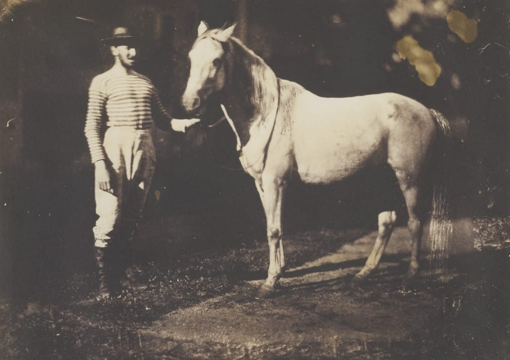 Horse and Groom, 1855 © Jean Baptiste Frenet, courtesy Salt and Silver exhibition, Tate Modern