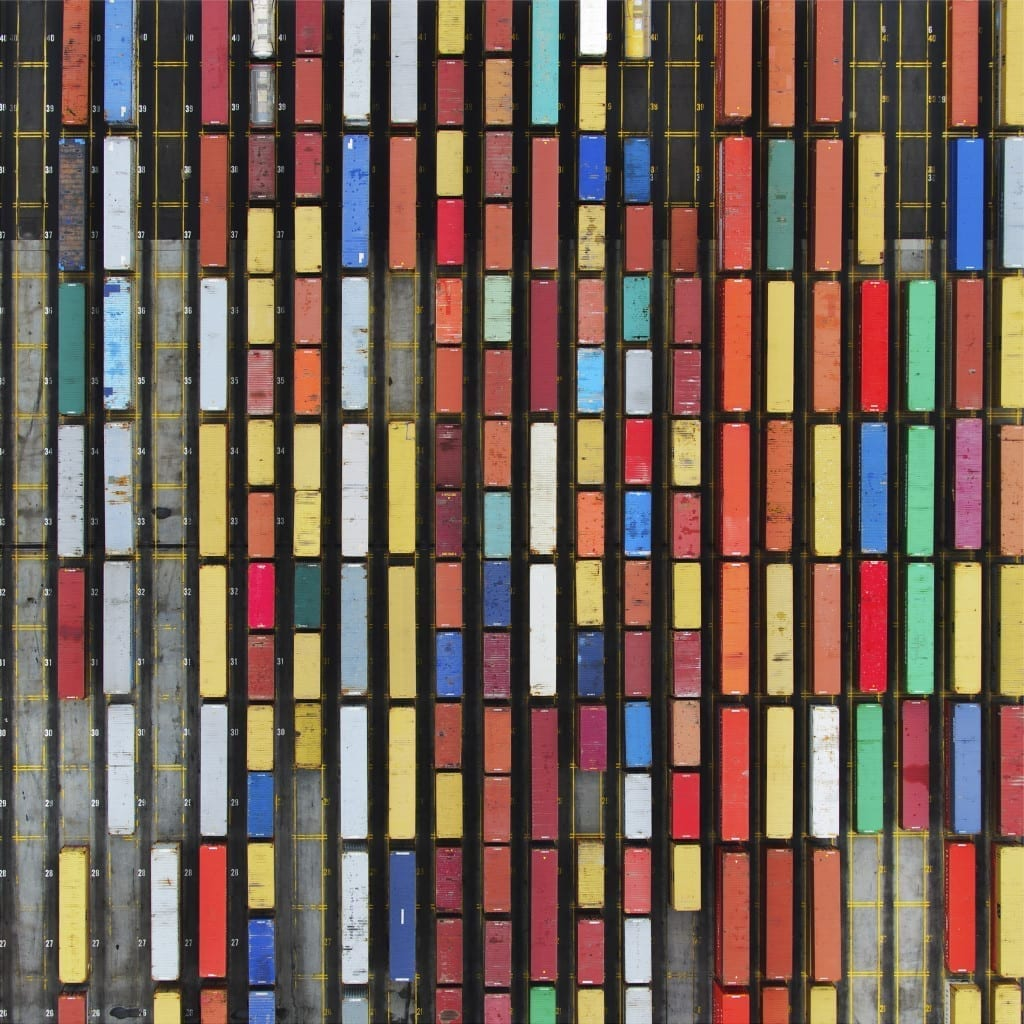 Coloured Containers © Tommy Clarke