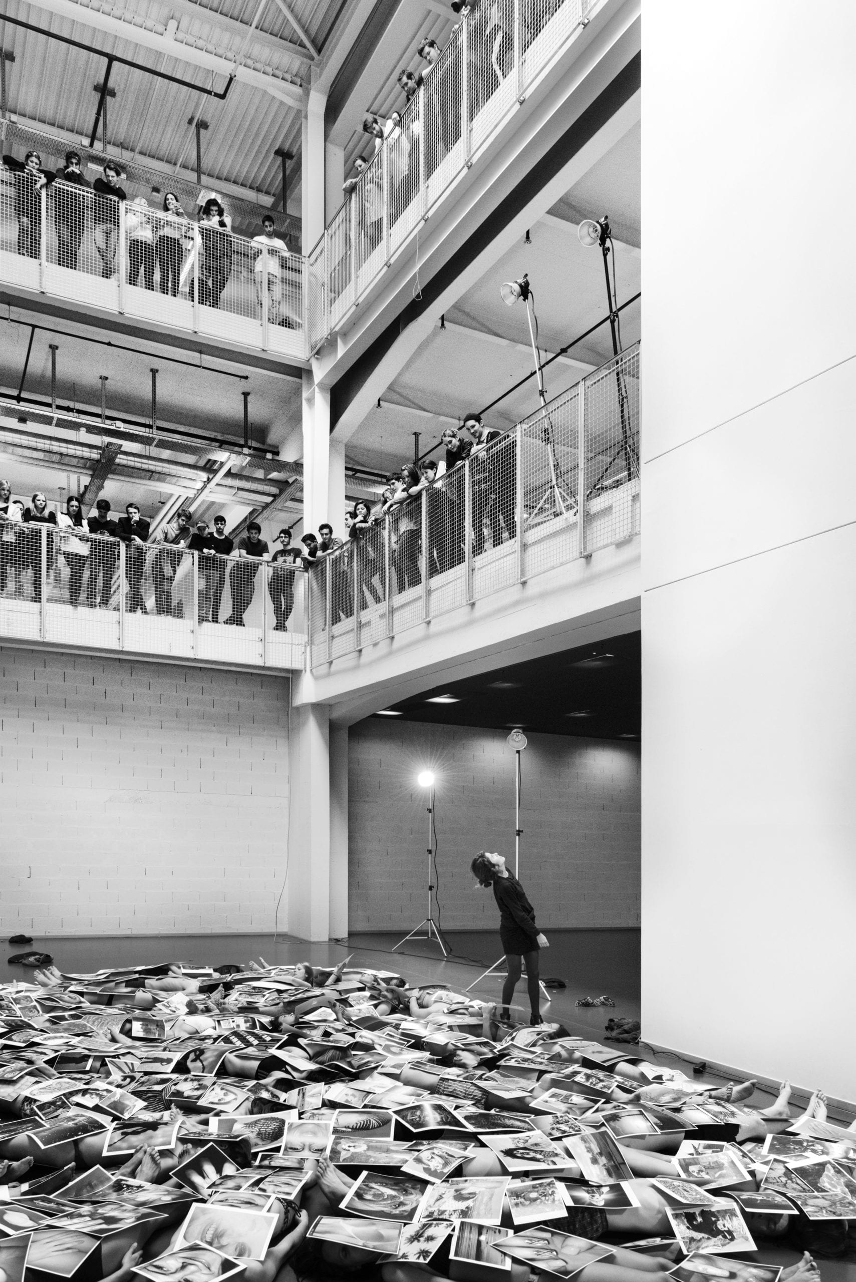 An exercise during a workshop with Olaf Breuning. Image © ECAL / Emile Barret