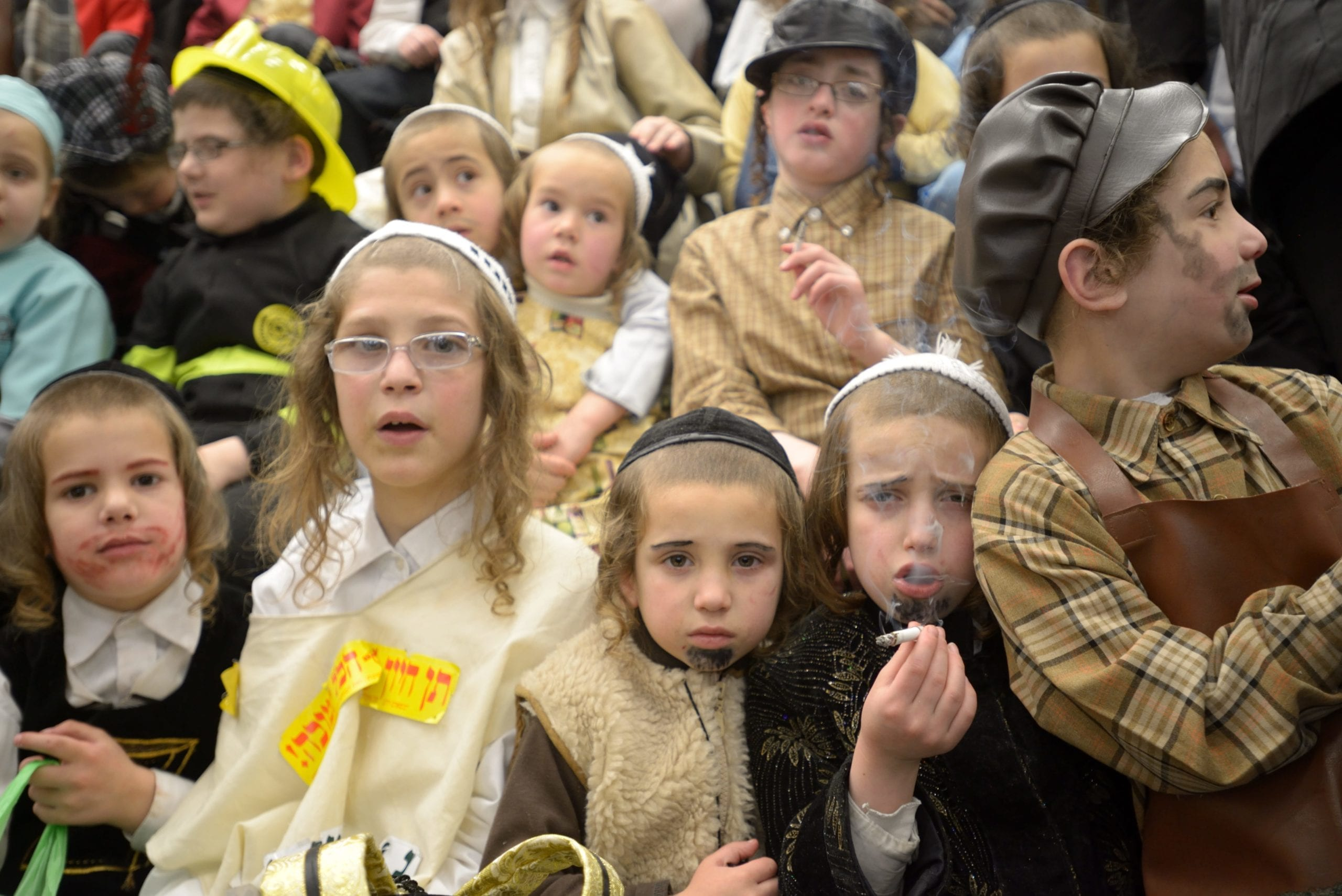 From Ultra-Orthodox Jews Celebrate Purim in Mea Shearim 2014 © Gili Yaari