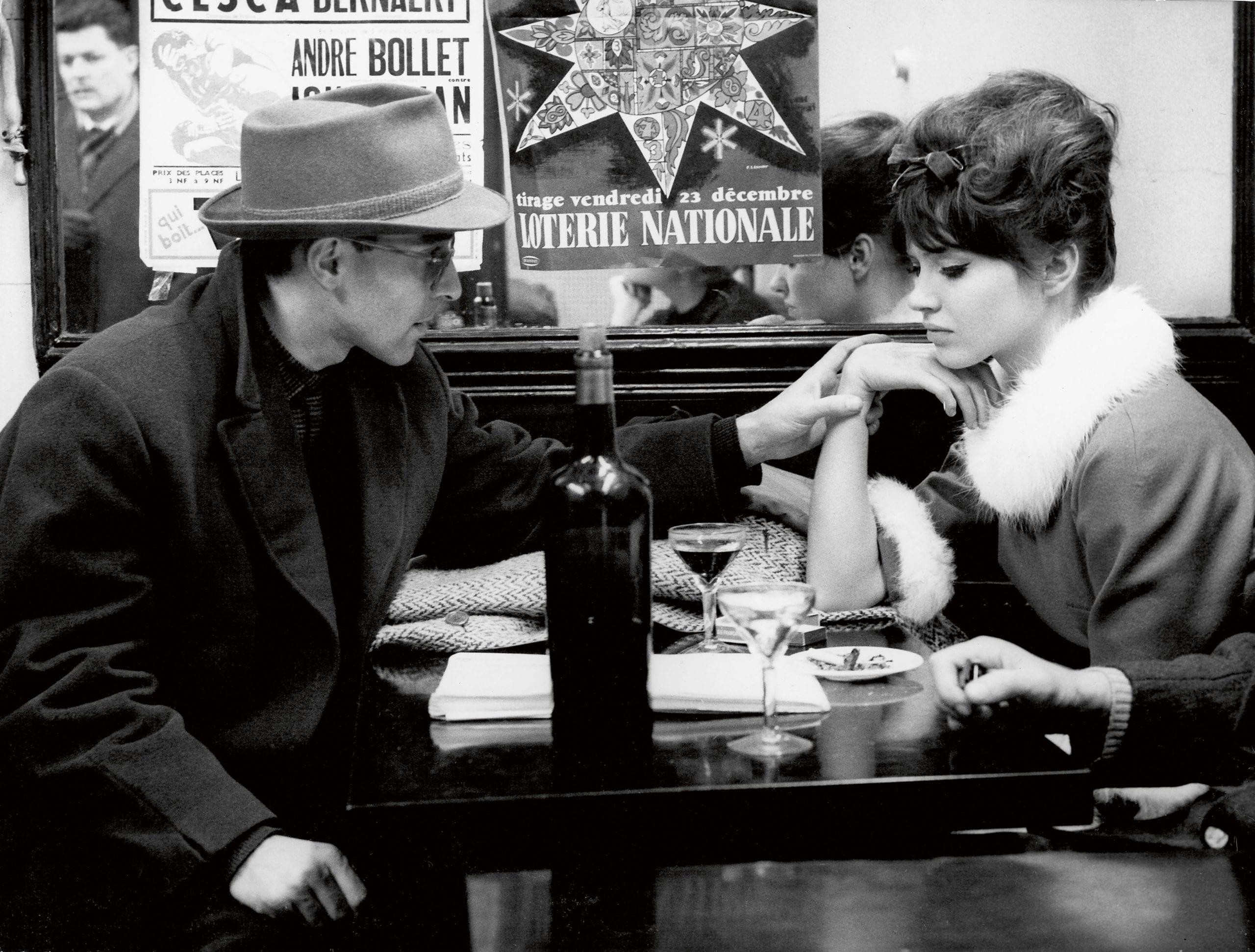Jean-Luc Godard and Anna Karina on set of Une Femme est une Femme © Raymond Cauchetier