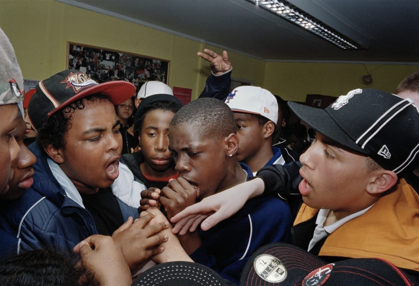 Youth club emceeing session, East London, 2005