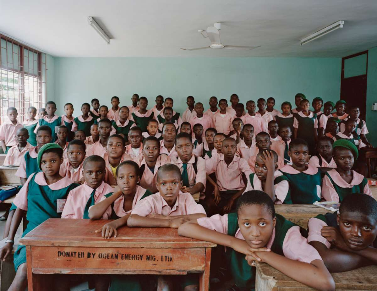 Julian Germain photographed classrooms in 19 countries all over the world
