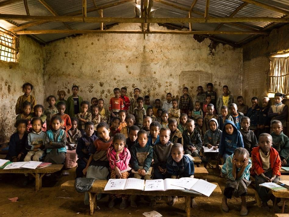 Gambela Elementary School, Gambela, Welisso District, Ethiopia. Grade 1, Music. October 9th, 2009