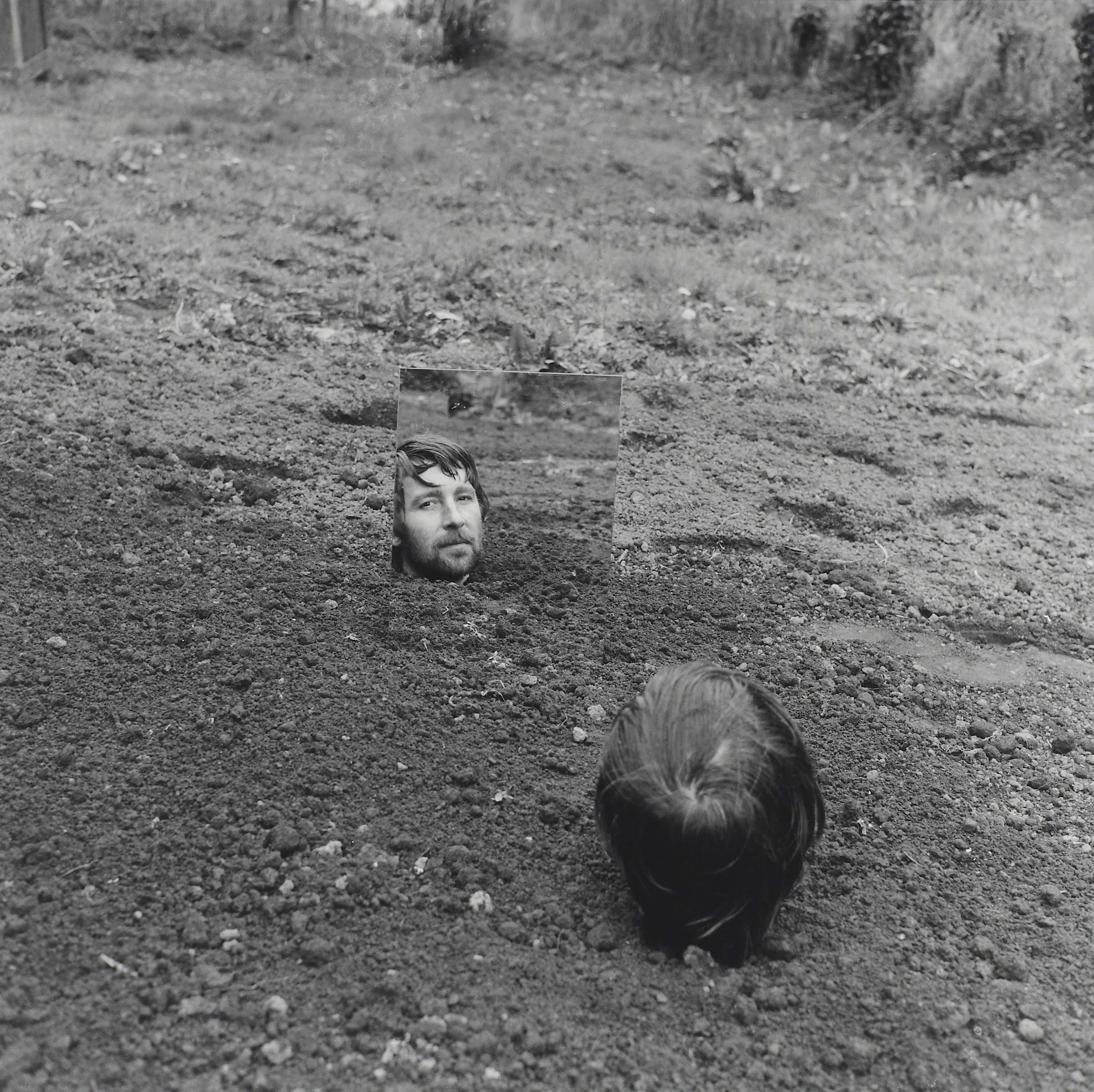 Self-Burial with Mirror, 1969