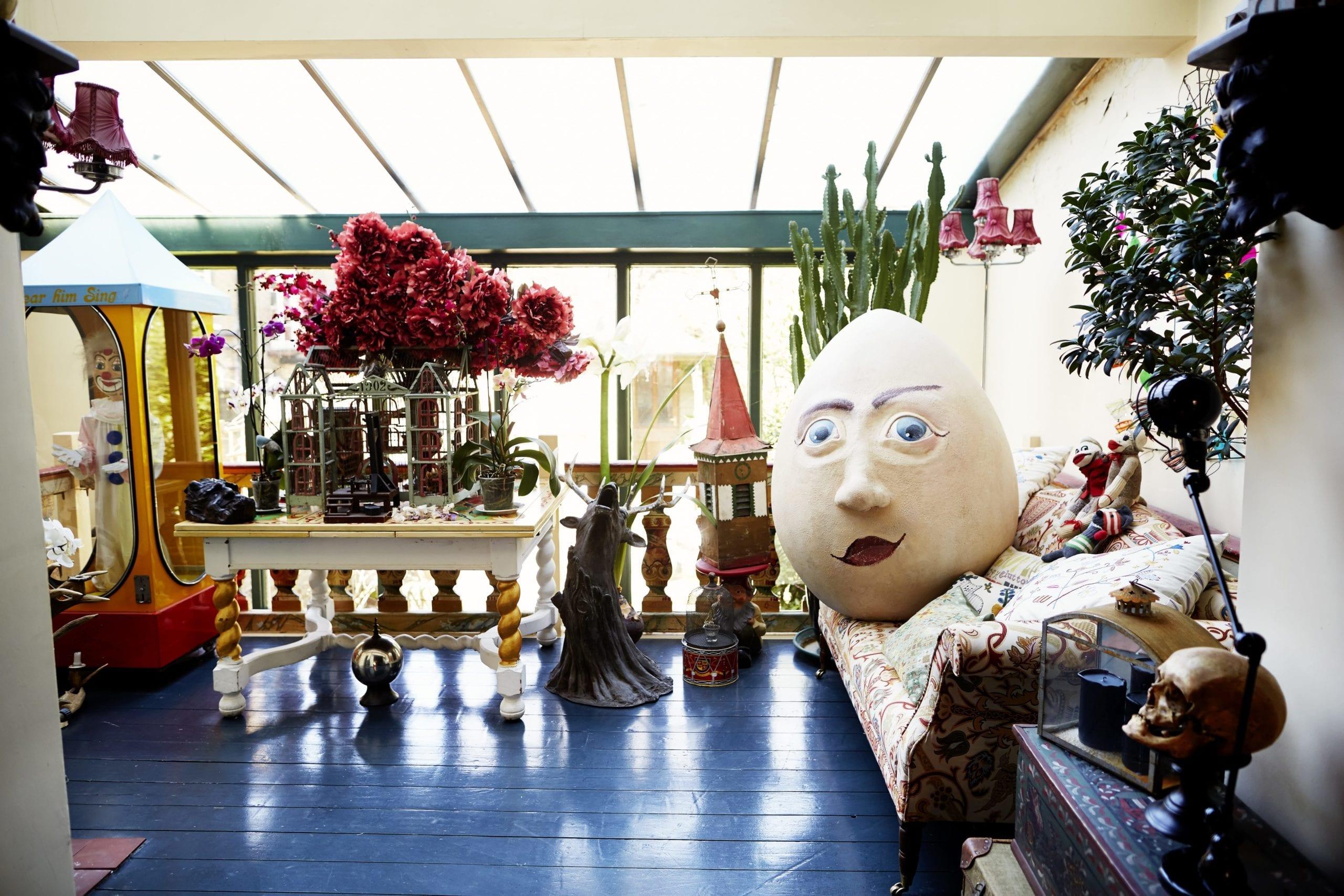 The London home of art director Simon Costin