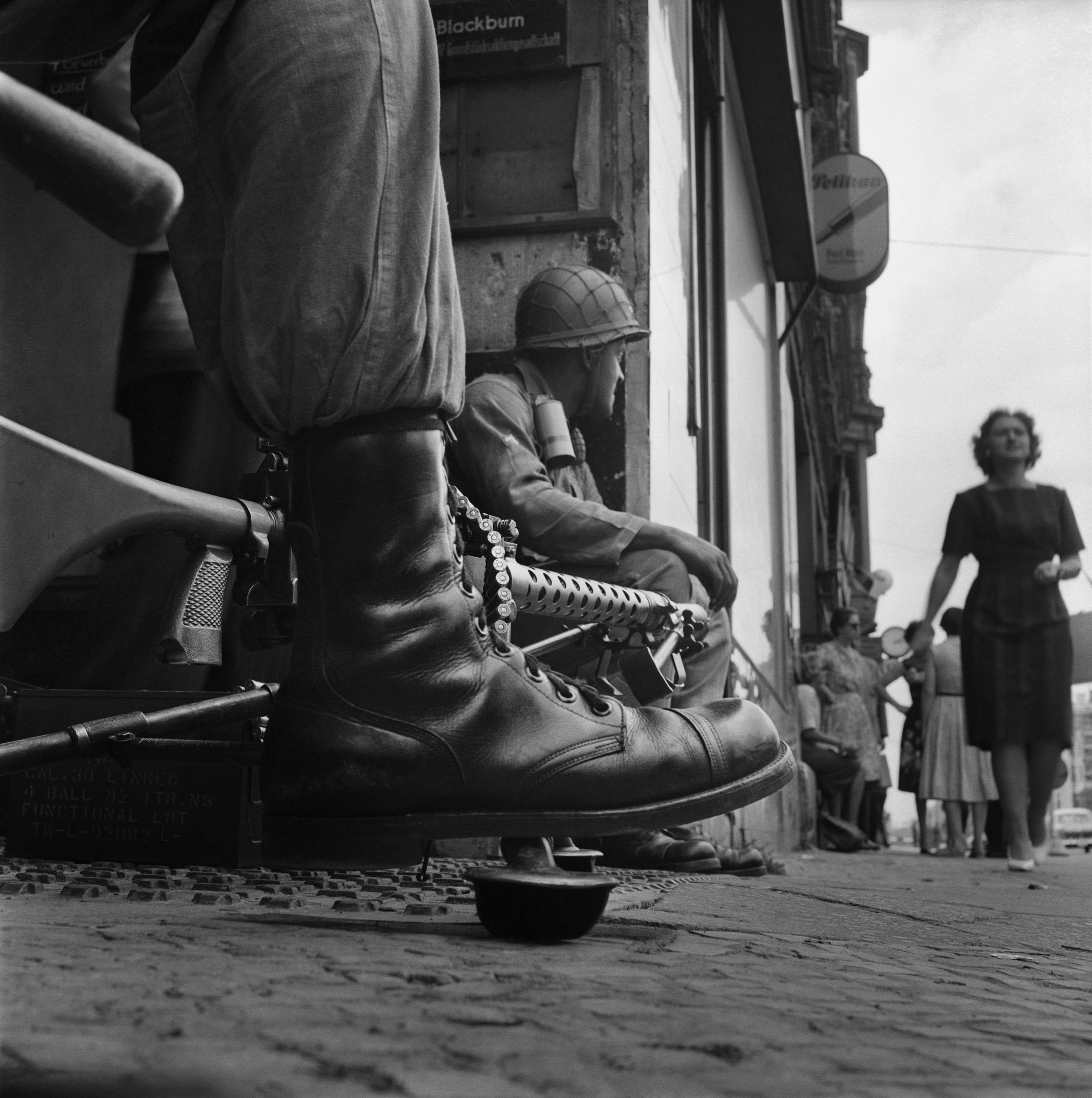 Near Checkpoint Charlie, Berlin, 1961 © Don McCullin