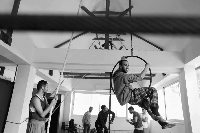 Students at the Palestinian Circus School, Birzeit. Ramallah, West Bank, Palestine © Rich Wiles