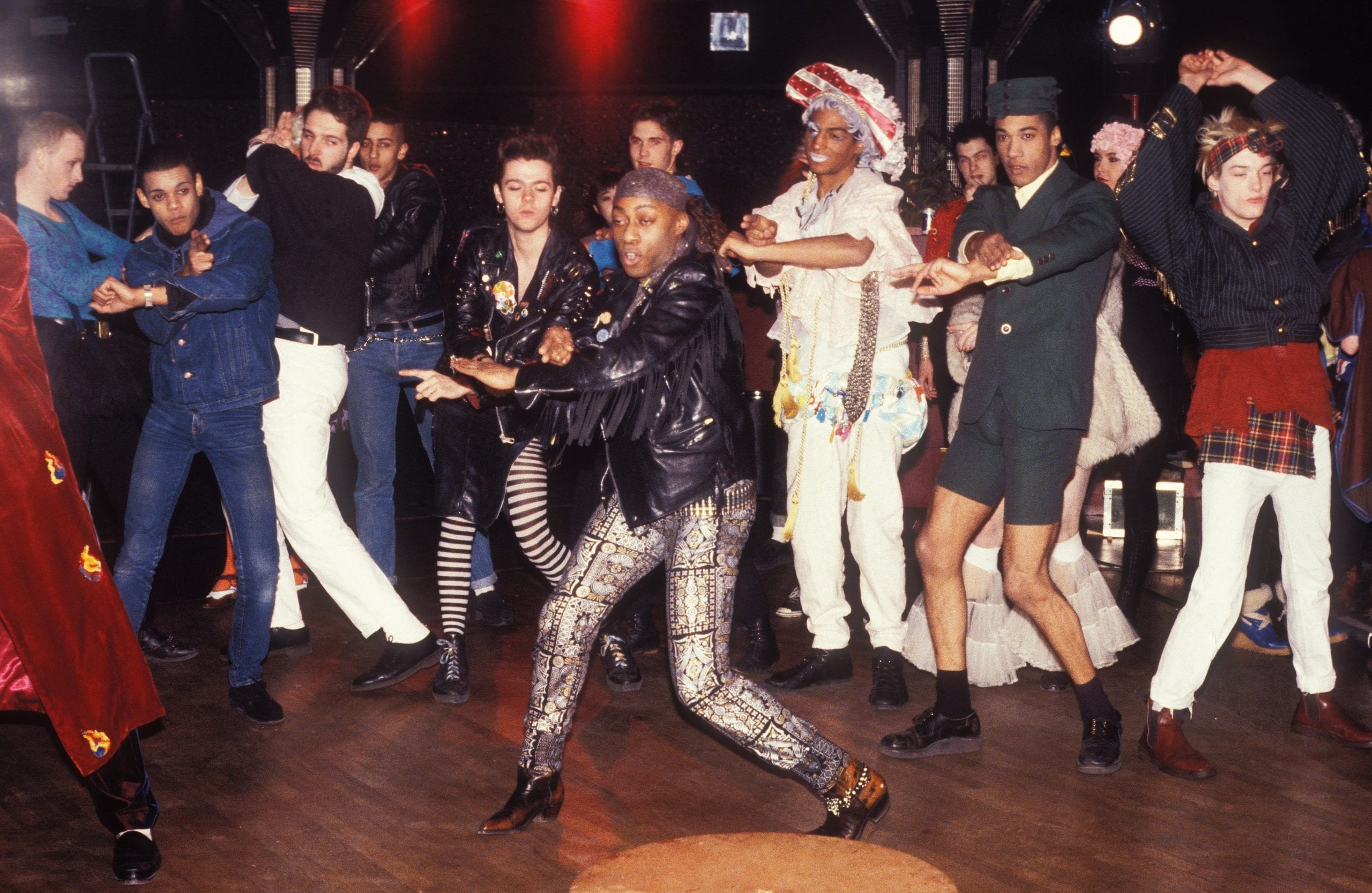 Clubbers dancing at Leigh Bowery's club Taboo, London, UK, 1986 © Hartnett/PYMCA