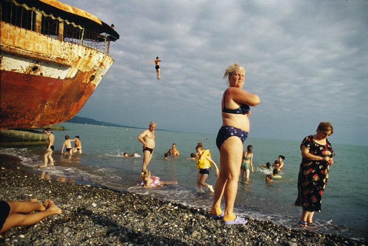 GEORGIA. Abkhazia. Sukhum. 2005. Although Abkhazia is isolated, half-abandoned and still suffering war wounds due to its unrecognized status, both locals and Russian tourists are drawn to the warm waters of the Black Sea. This unrecognized country, on a lush stretch of Black Sea coast, won its independence from the former Soviet republic of Georgia after a fierce  war in 1993.