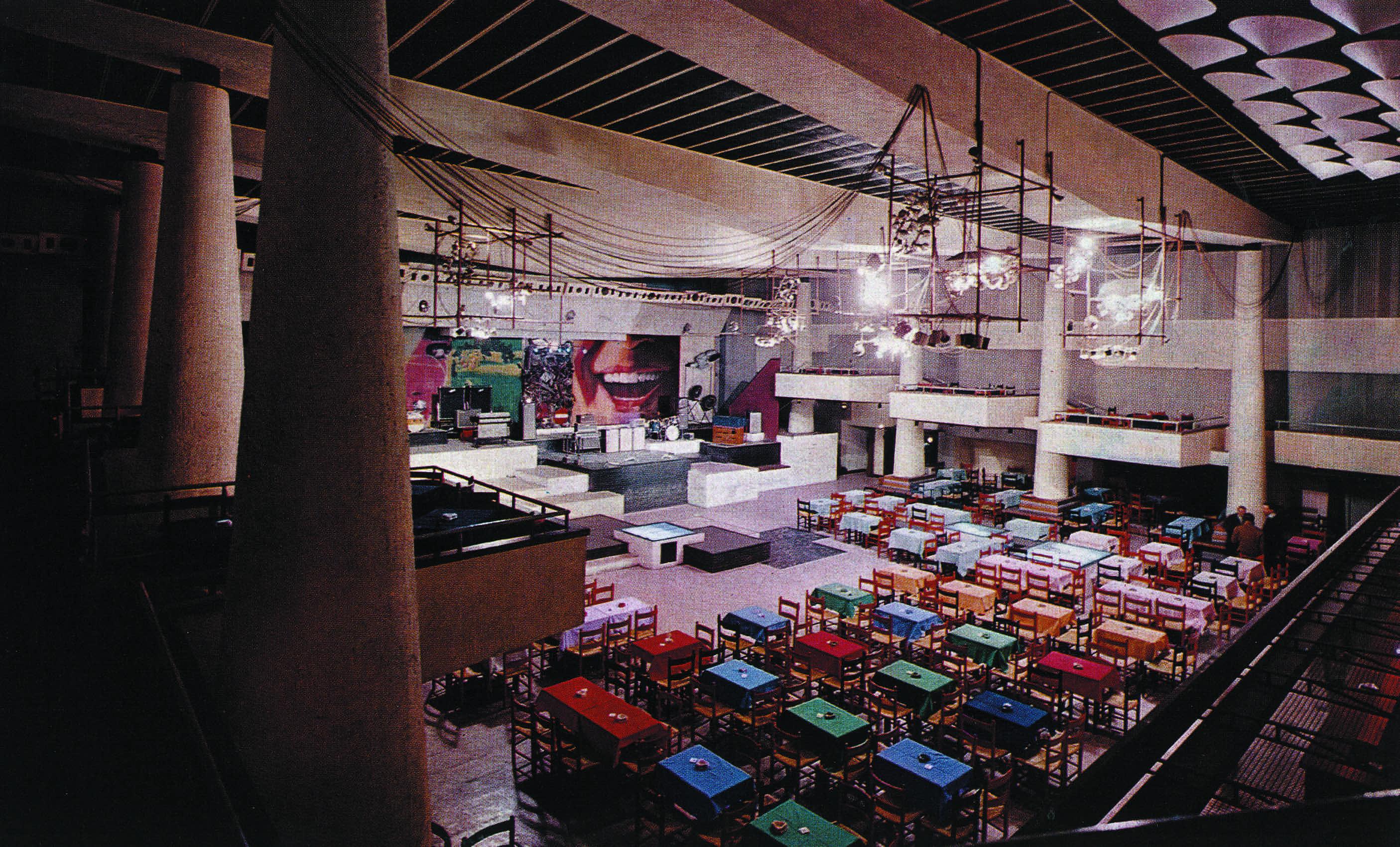 3C+t Capolei Cavalli (Giancarlo Capolei, Pinini Capolei, Manlio Cavalli), side elevation of Piper club, Rome, 1965. © 3c+t Fabrizio Capolei, Pino Abbrescia e Fabio Santinelli (face2face studio), Corrado Rizza