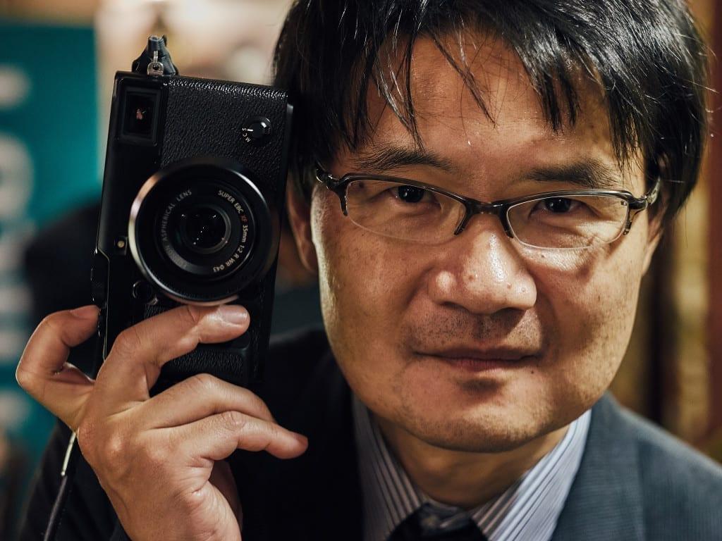 Fuji's Takashi Ueno with the X-Pro2 he designed